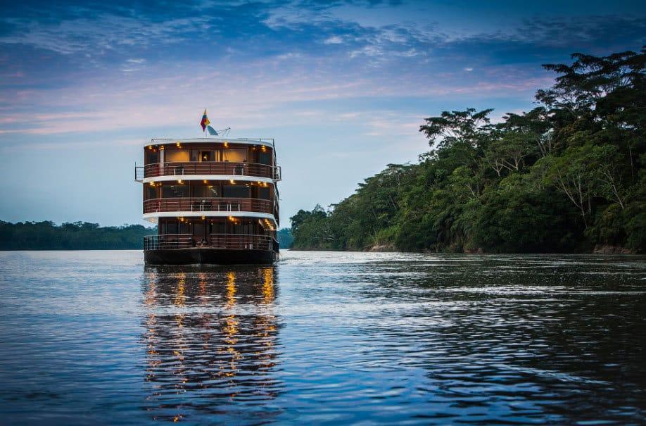 Anaconda cruise ship in Amazon