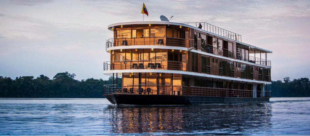Luxury cruise ship in Ecuador