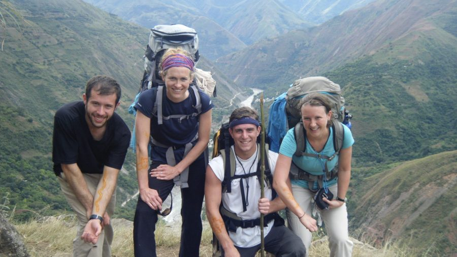 Inca Jungle Trail - Trekkers stop for a photo.