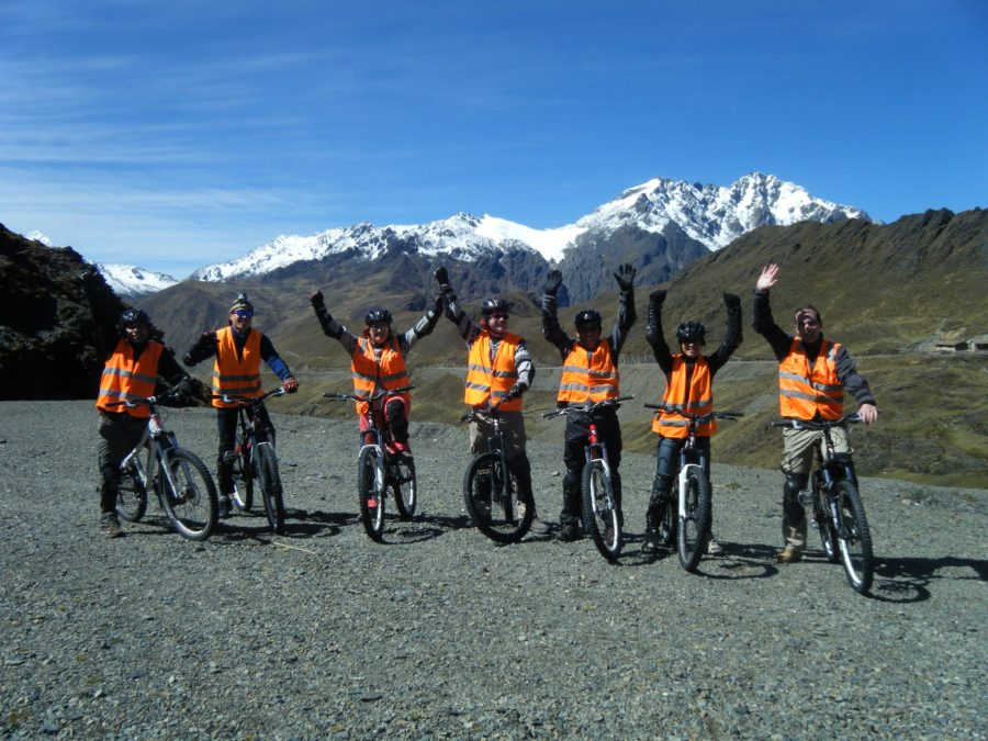 Inca Jungle Trail - Group of cyclists enjoying the trail.