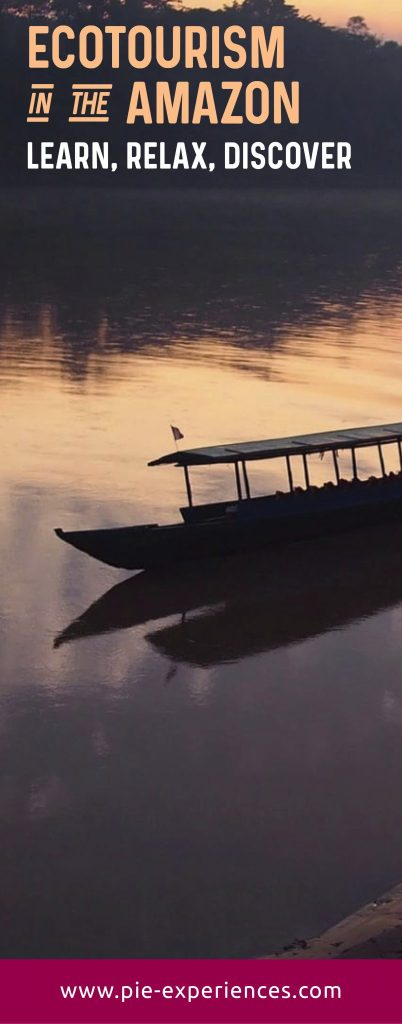 Ecotourism in the Amazon - Pinterest image.
