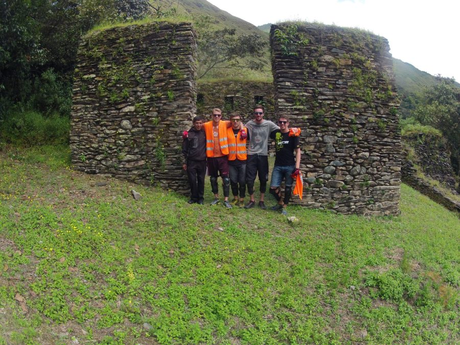 Inca Jungle Trail - Jungle trail trekkers at Llactapata.