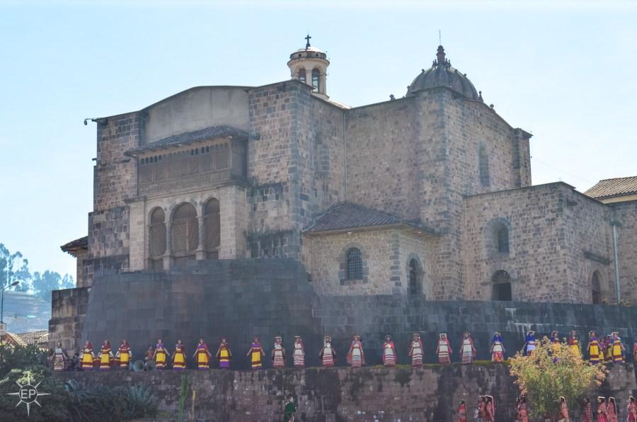 Intir Raymi festival - Celebrations begin at Coricancha temple.