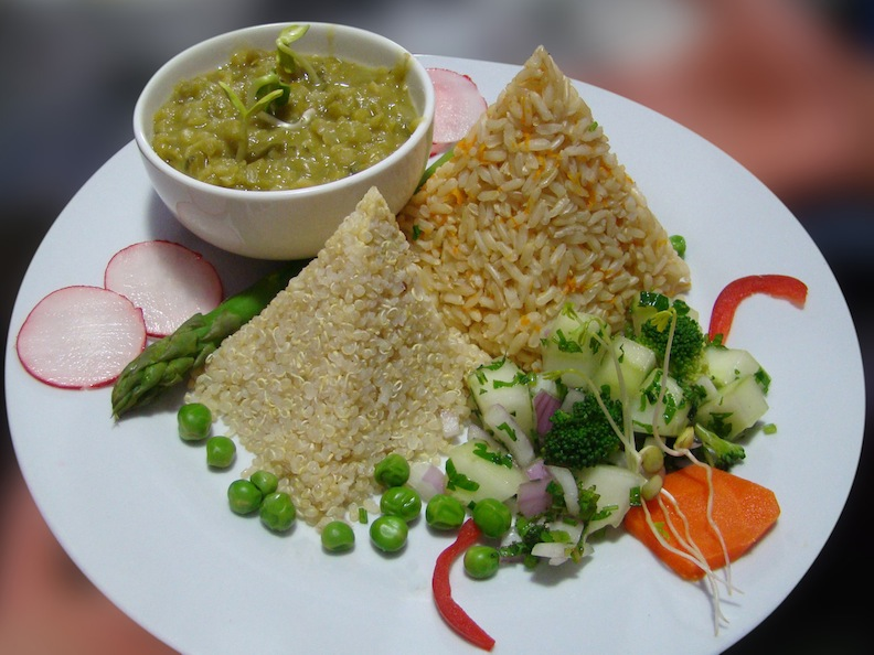 Vegetarian food in Peru - Shaman Raw Vegan in Cusco.
