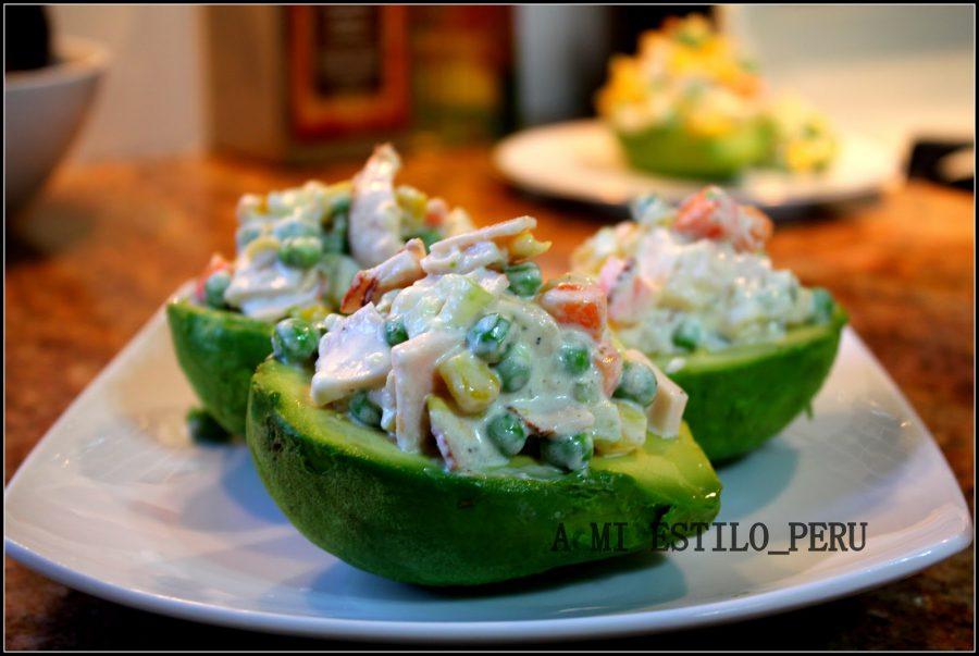 Vegetarian food in Peru- palta jardinera