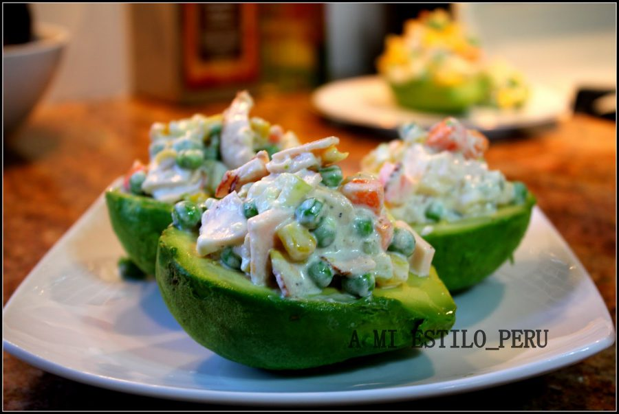 Vegetarian food in Peru- palta jardinera