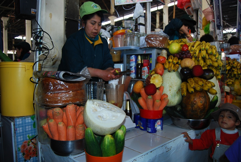 Drink Juices at San Pedro market