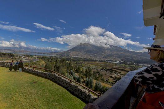 Imbabura Volcano view from Train Crucero