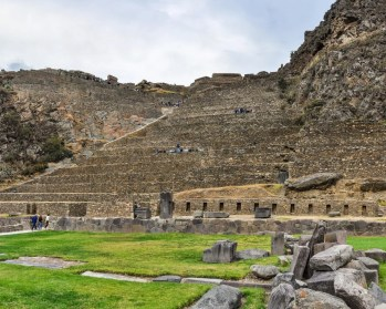 Ruins of the ancient city of Ollantaytambo in the Sacred Valley of the Incas, Peru
