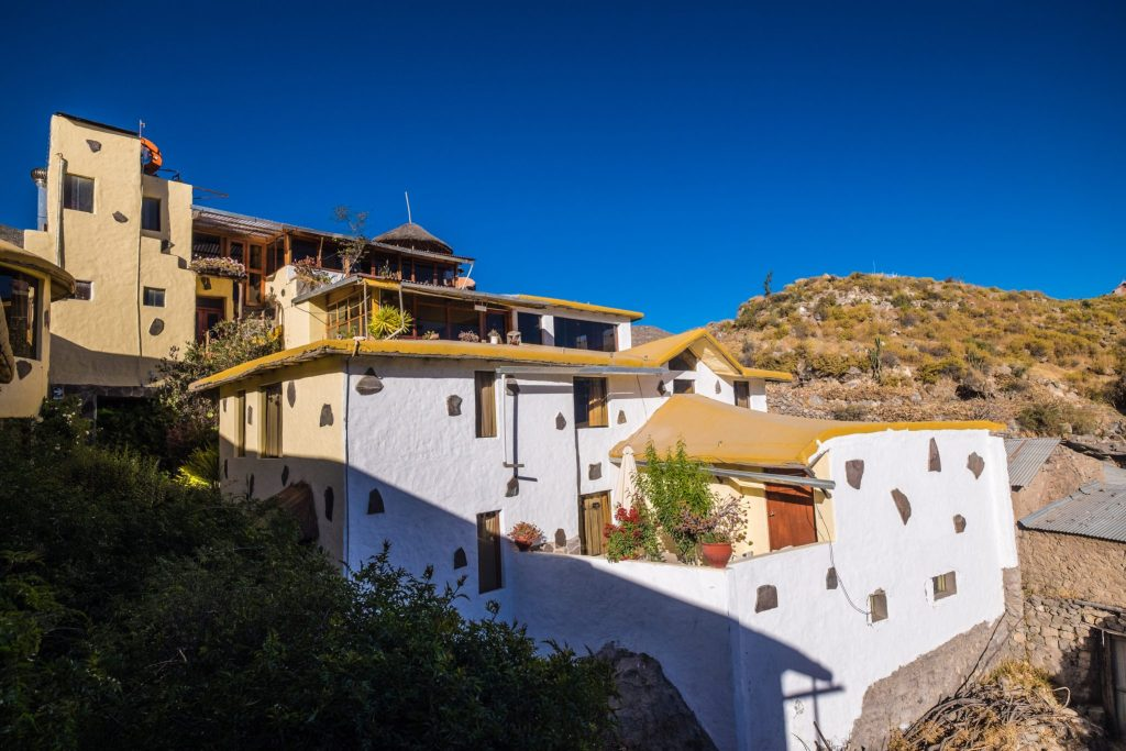 Colca Canyon trek - Kuntur Wassi Hotel in Cabanaconde.