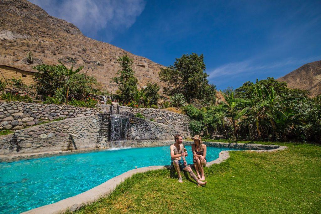 Colca Canyon trek - Pool at Jardin el Eden in Sangalle.