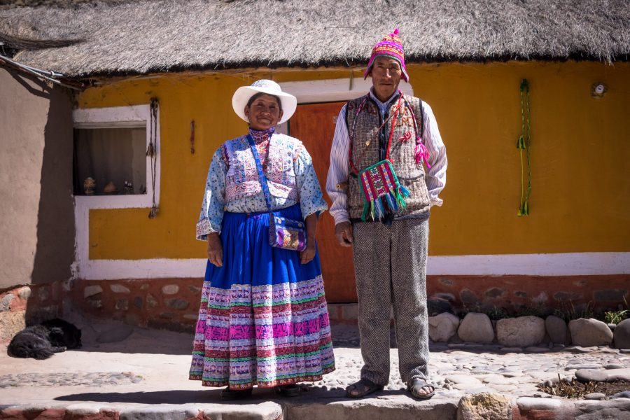 Homestay tours in Colca Canyon - Nieves and Eusebio at Samana Wasi.