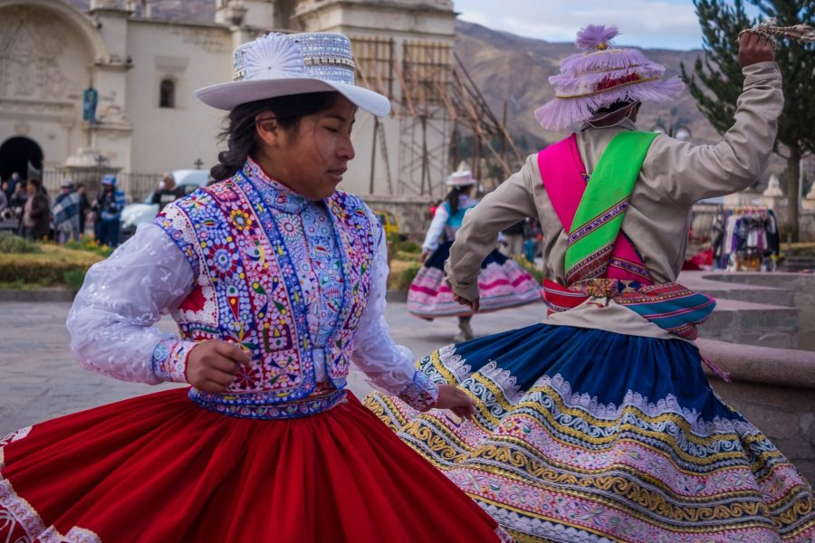 Homestay tours in Colca Canyon - Local dancing in Yanque.