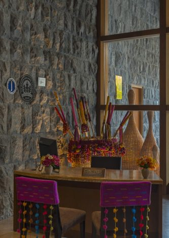 Luxury hotels in Sacred Valley - Concierge desk at Tambo del Inka.