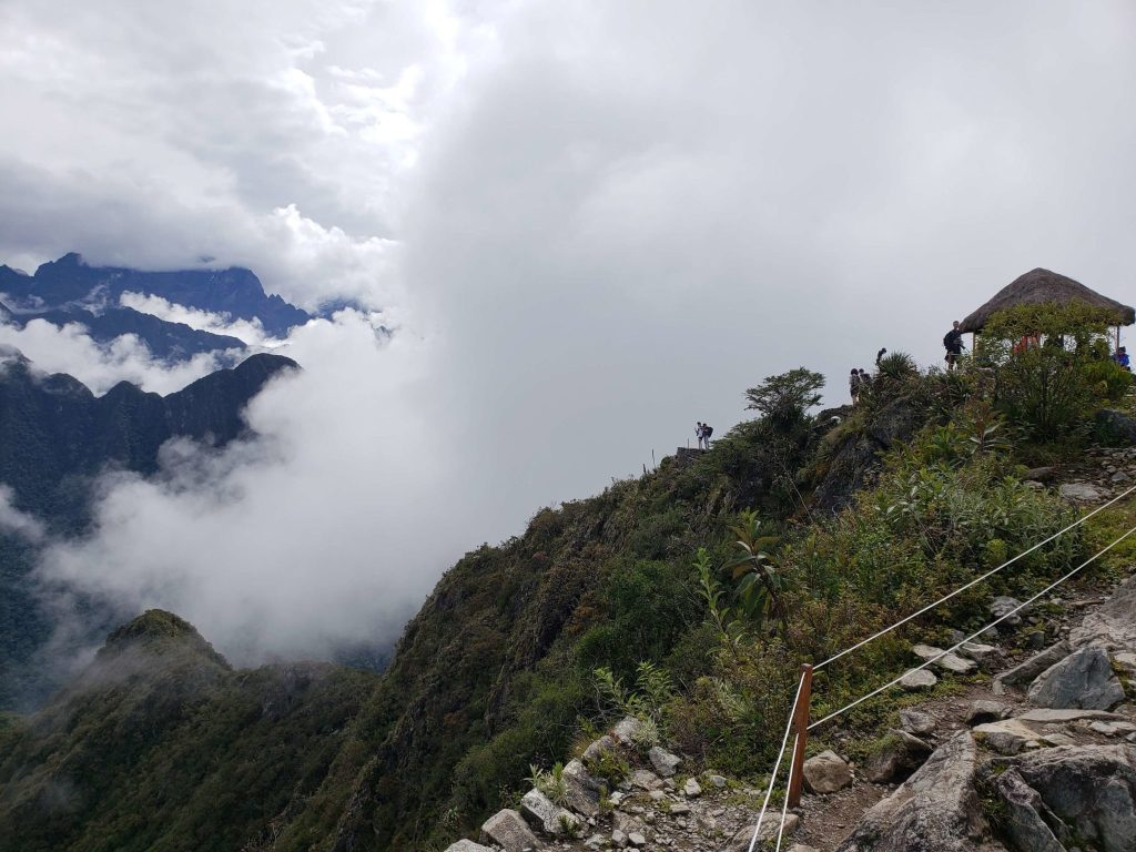 Arriving at the top of Machu Picchu Mountain