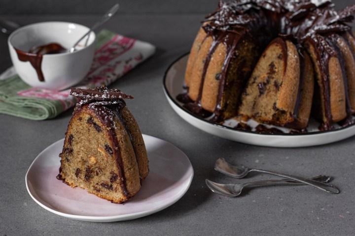 עוגת קפה עם שוקולד ושבילי חמאת בוטנים