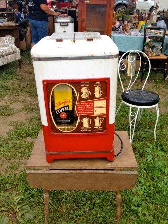 Brimfield fair antique coffeemaker