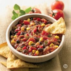 Bowl Tastefully Simple Black Bean Corn Salsa
