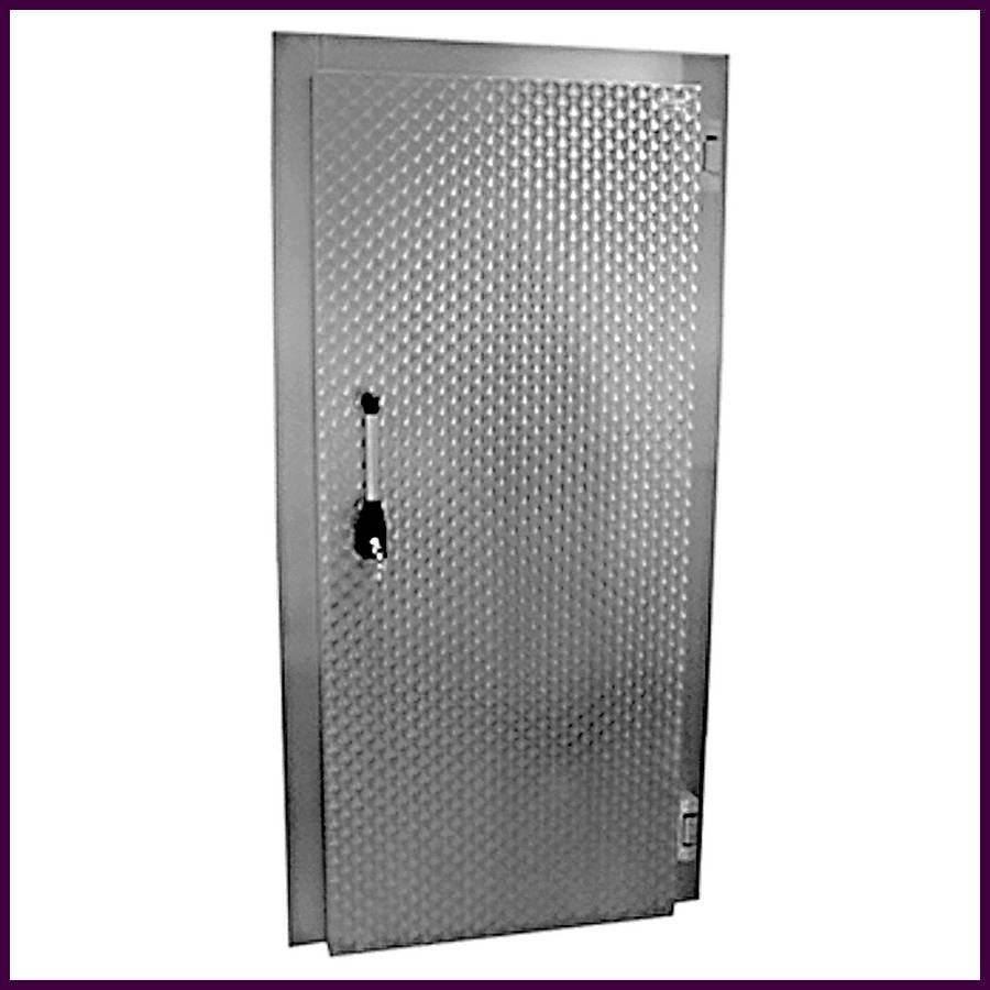 Porte De Chambre Froide En Aluminium Galvanisé