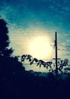 Telephone pole as sundial