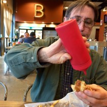 Jim with Catsup Bottle