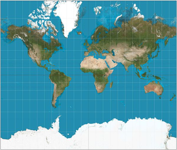 Maps are all lies Representing a spherical earth on a