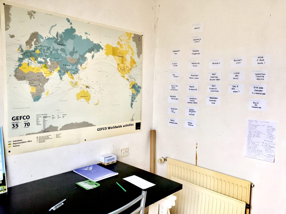 préparatifs voyage tour du monde