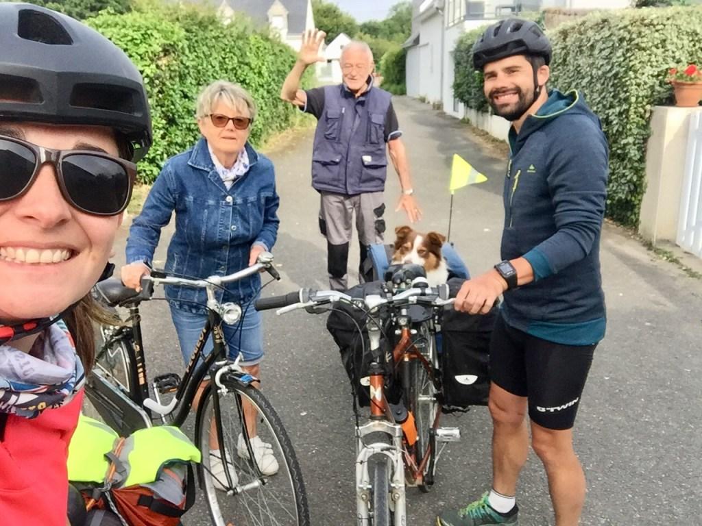 famille quimiac départ vélo