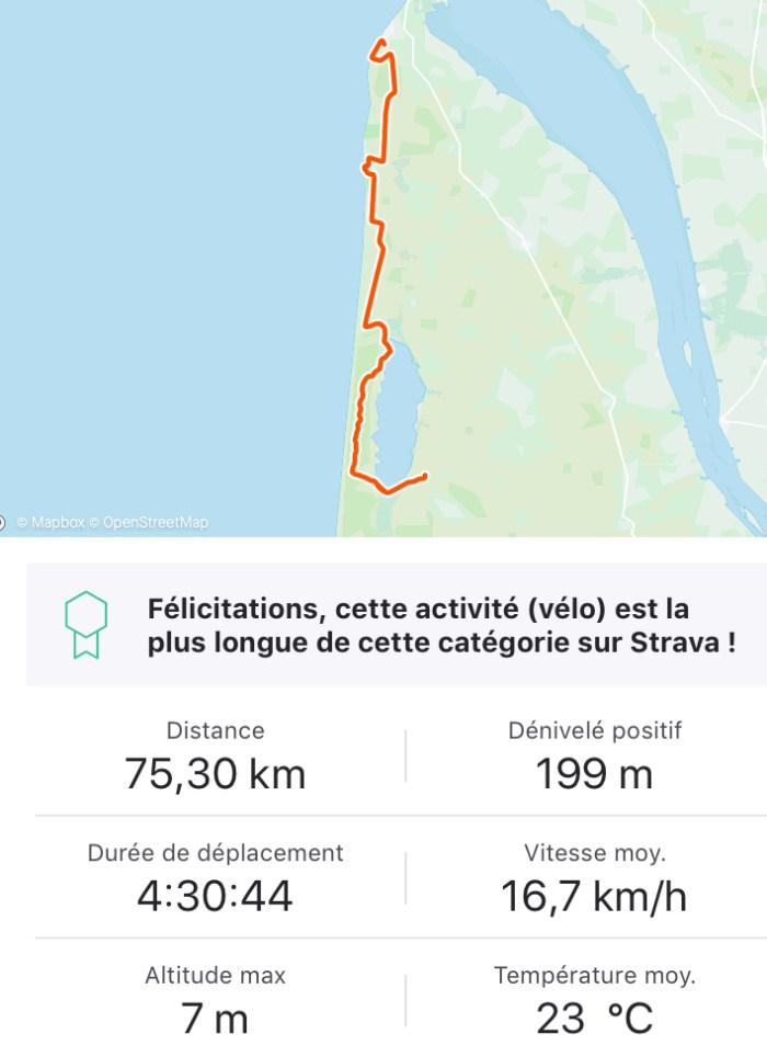 vélodyssée lac d'hourtin carcans