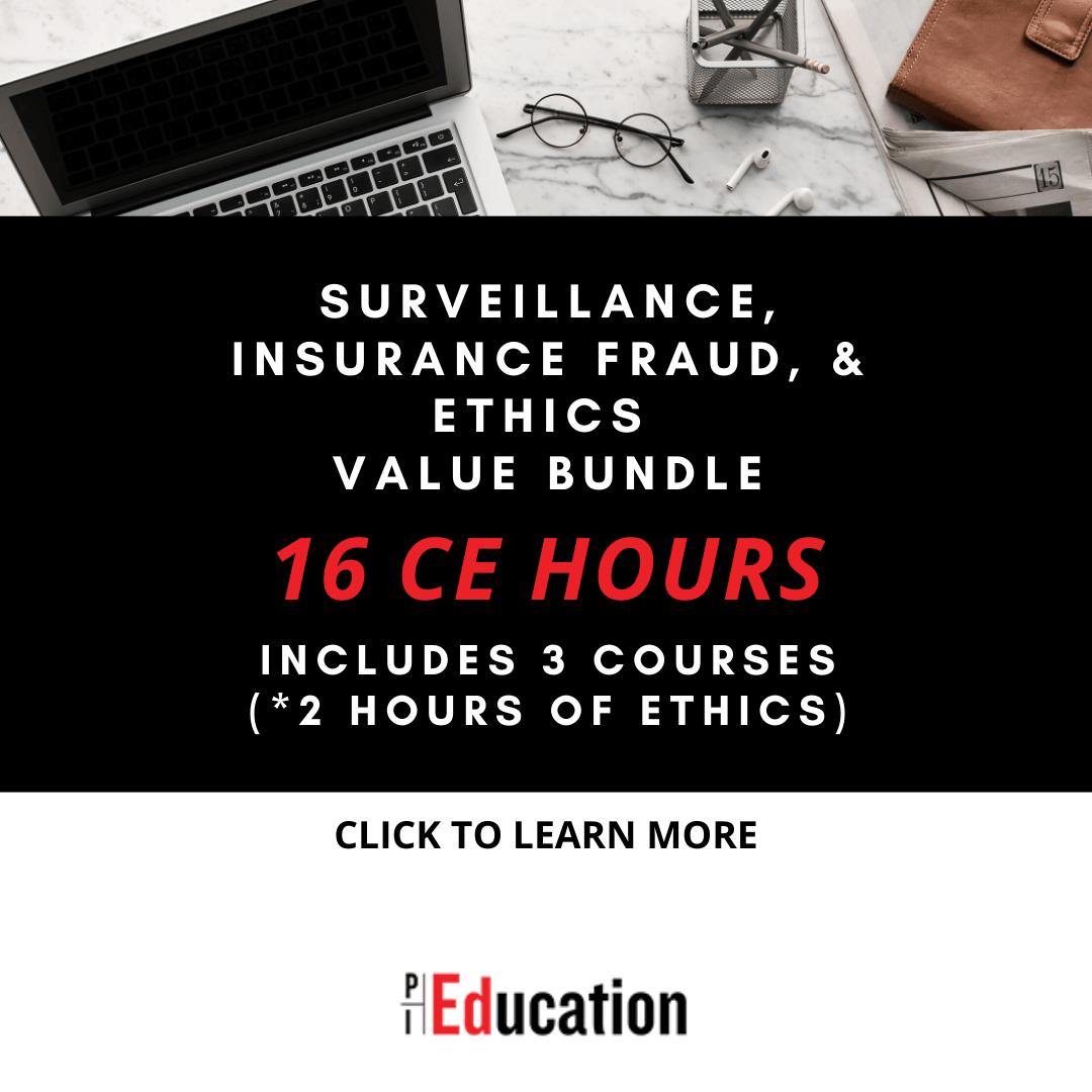 Surveillance Insurance Fraud Amp Ethics Bundle