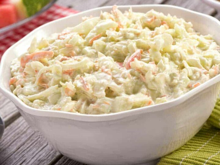 cabbage salad with carrots and onions