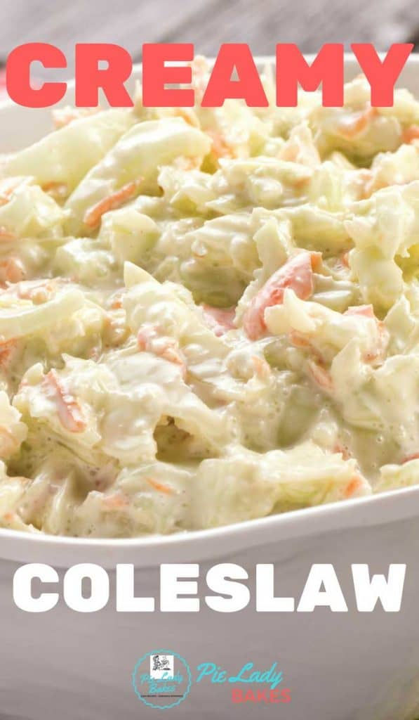 The secret to the great flavor in this best creamy coleslaw recipe is onion. Green cabbage, chopped onion and carrots combine with your favorite salad dressing. BIG flavor and a crowd pleaser every time!