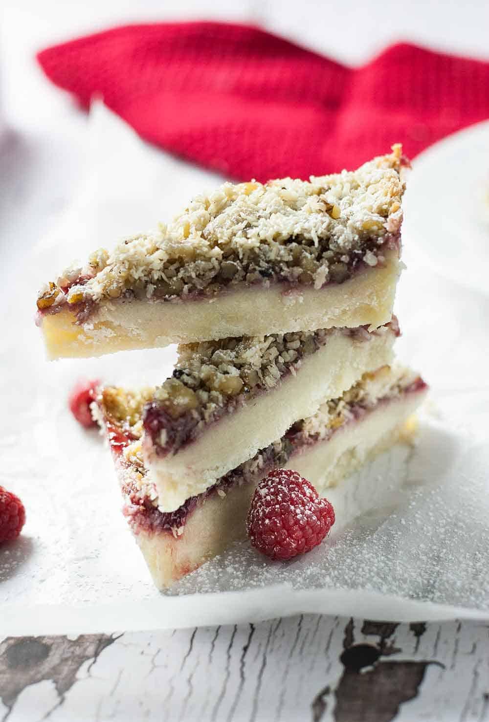 Raspberry Pie Dream Bars | Dreamy