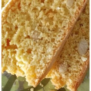Pinterest image of italian almond biscotti