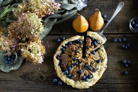 Rustic Pear & Blueberry TART (Galette)