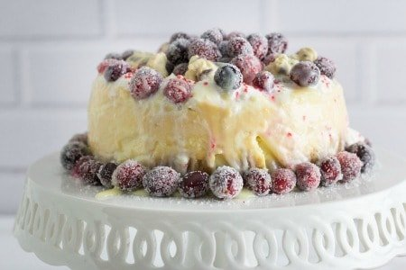 White Chocolate Cheesecake with Cranberries (Instant Pot)