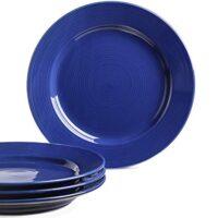 Le Tauci Dinner Plates set, 10 Inch Ceramic Plates,Set of 4 True Blue