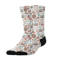 YEAHSPACE Funny Baking Food Pies Soft Dress Socks Gift,Colorful Pattern Cotton Crew Socks Athletic Socks for Cold Winter