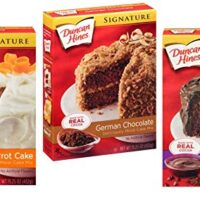 Duncan Hines Signature Cake Mix Variety 3 Pack Bundle - German Chocolate, Triple Chocolate, Classic Carrot Cake Mix