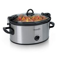 Crock-Pot Cook & Carry 6-Quart Oval Portable Manual Slow Cooker | Stainless Steel (SCCPVL600S)
