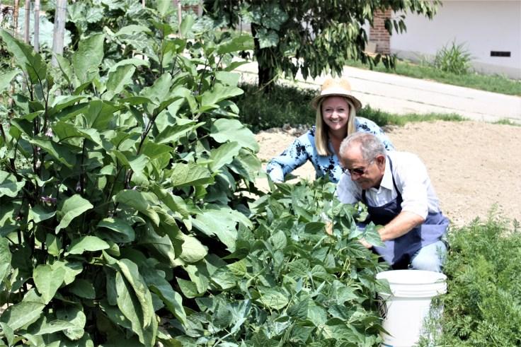 Oda and Elio Gardening