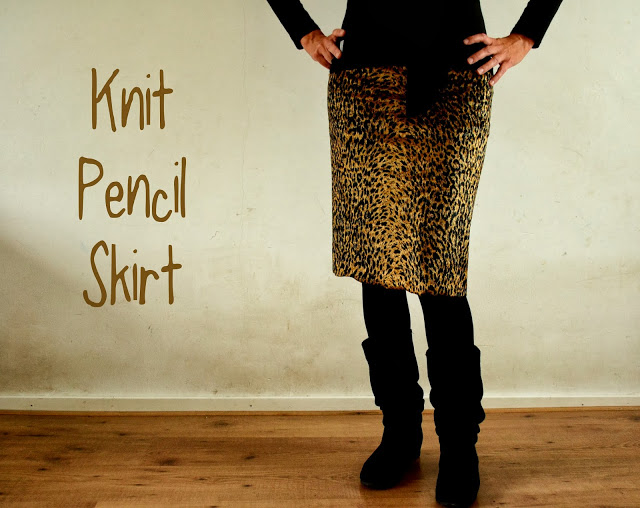 Knit Pencil Skirt – Weekly Pin Project #7