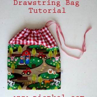 Colourblocked Drawstring Bag Tutorial Pienkel