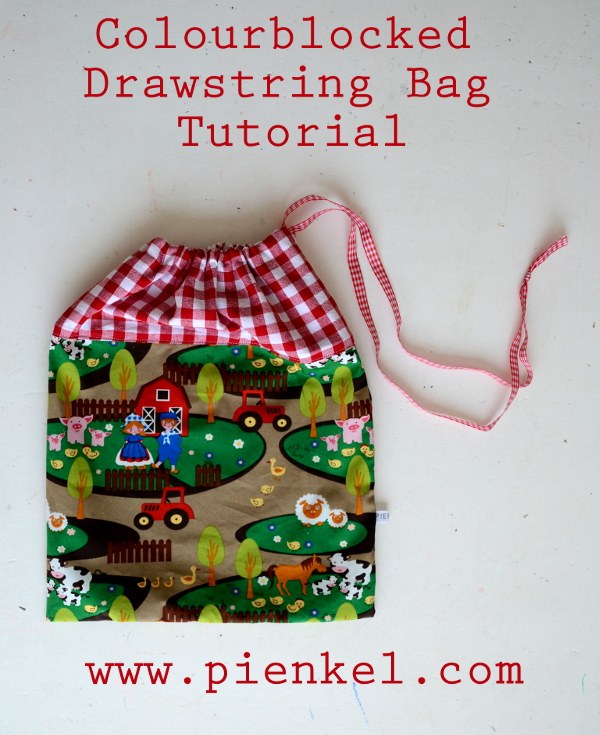 Colourblocked Drawstring Bag Tutorial