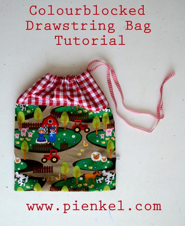 Colourblocked Drawstring Bag Tutorial