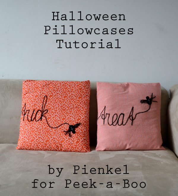 Halloween Pillowcase Tutorial