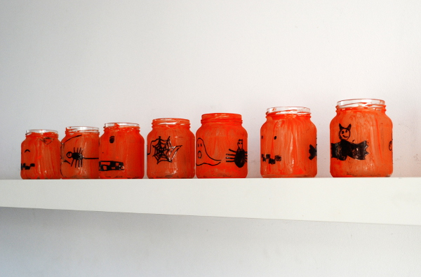 Orange Mason Jar Lanterns
