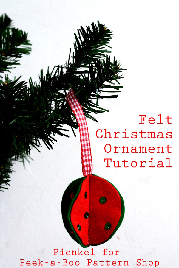 3D Felt Christmas Ornaments – Tutorial for Peek-a-Boo Pattern Shop