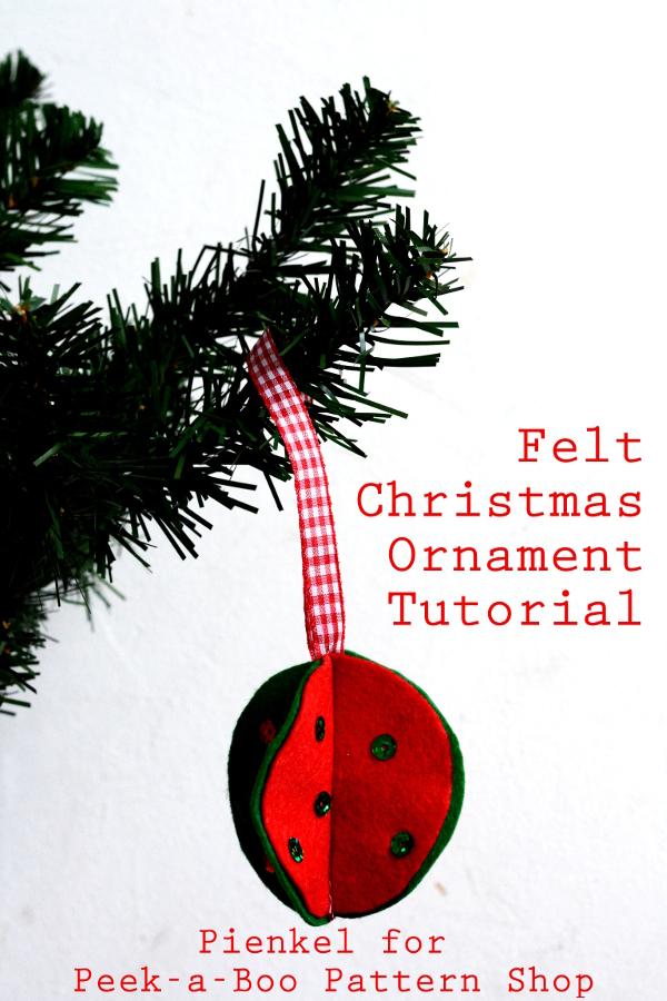 3D Felt Christmas Ornaments – Tutorial for Peek-a-Boo Pattern Shop