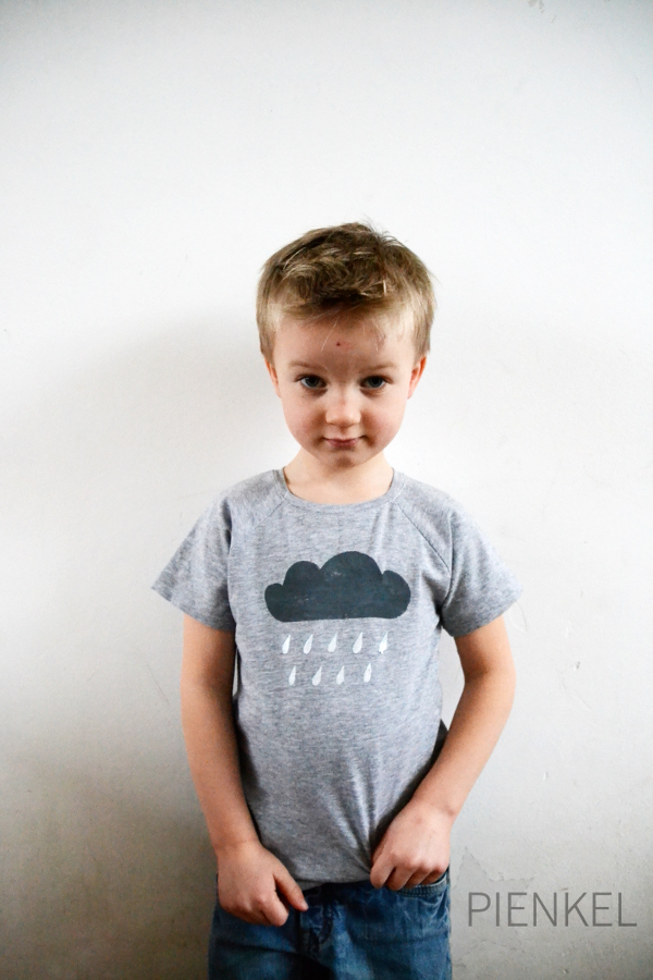 Recess Raglan with Rain Cloud Stencil